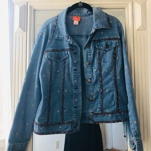 Hearts of Palm floral jean jacket
